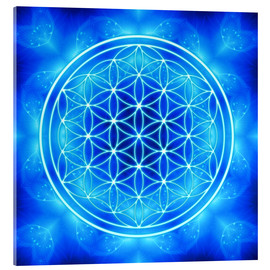 Acrylic glass  Flower of Life - Archangel Michael - Dolphins DreamDesign