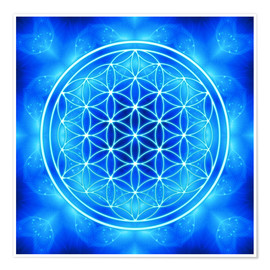 Premium poster Flower of life - archangel Michael