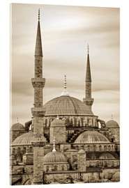 Acrylic glass  the blue mosque in sepia (Istanbul - Turkey) - gn fotografie