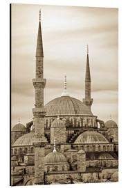 Aluminium print  the blue mosque in sepia (Istanbul - Turkey) - gn fotografie