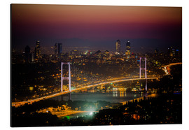 Aluminium print  Bosporus-Bridge at night - pink (Istanbul / Turkey) - gn fotografie