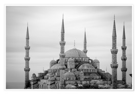 Premium poster the blue mosque in Istanbul / Turkey