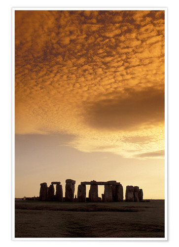 Premium poster Golden light over Stonehenge