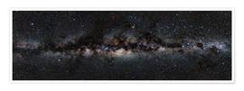 Premium poster  Milky way panorama - Jan Hattenbach