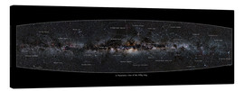 Canvas print  Milky Way, labeled (english) - Jan Hattenbach