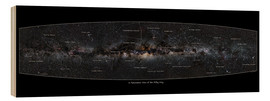 Wood print  Milky Way, labeled (english) - Jan Hattenbach