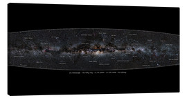 Canvas print  Milky Way, labeled (german) - Jan Hattenbach