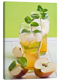 Canvas  Apple juice with fresh mint - Edith Albuschat