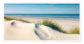 Poster  Langeoog seascape with dunes and fine beach grass - Reiner Würz RWFotoArt