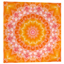 Acrylic print  Mandala - You are loved - Dolphins DreamDesign