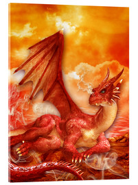 Acrylic print  Red Power Dragon - Dolphins DreamDesign