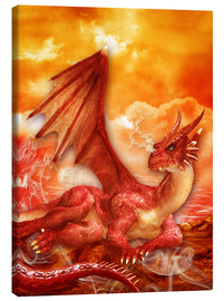 Canvas  Red Power Dragon - Dolphins DreamDesign