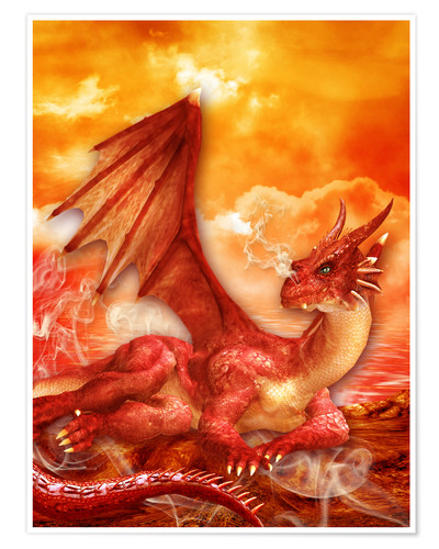 Premium poster Red Power Dragon