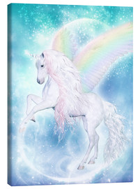 Canvas print  Rainbow Unicorn Pegasus - Dolphins DreamDesign