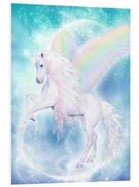 Foam board print  Rainbow Unicorn Pegasus - Dolphins DreamDesign