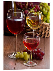 Acrylic glass  Wine in glasses - Edith Albuschat