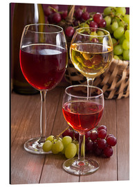 Alu-Dibond  Wine in glasses - Edith Albuschat
