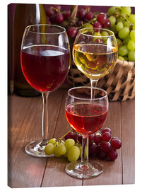 Canvas  Wine in glasses - Edith Albuschat