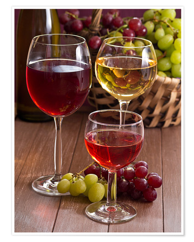 Poster Wine in glasses