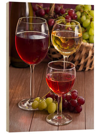 Wood  Wine in glasses - Edith Albuschat