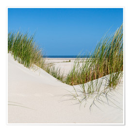 Premium poster the coastline of the german sea on the island Norderney (Germany)