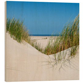 Wood print  the coastline of the german sea on the island Norderney (Germany) - gn fotografie