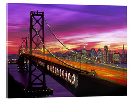 Acrylic glass  Oakland Bay Bridge and San Francisco Skyline - Paul Thompson