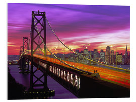 Foam board print  Bay Bridge in San Francisco - Paul Thompson