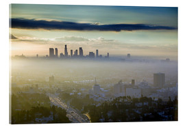 Acrylic glass  Los Angeles skyline in the morning mist - Walter Bibikow
