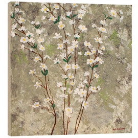 Wood print  Pear Blossoms I - Herb Dickinson