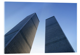 Acrylic print  Twin Towers of the WTC - Sue Cunningham