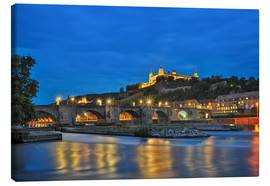 Canvas print  Fortress Marienberg Wurzburg at night - Fine Art Images