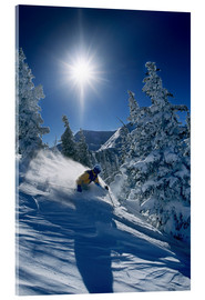 Acrylic print  Skier in sunshine - James Kay