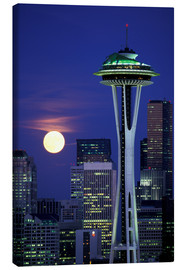 Canvas print  Space Needle at full moon - William Sutton