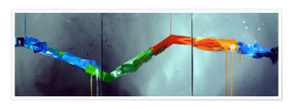 Premium poster Colorful stripes 2