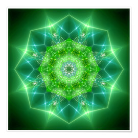 Poster  Mandala - healing power - Dolphins DreamDesign