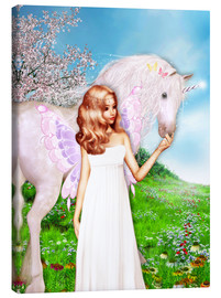 Canvas print  Angel and Unicorn - Dolphins DreamDesign