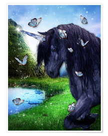 Premium poster Black Unicorn