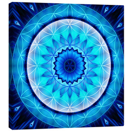 Canvas print  Mandala honesty with flower of Life - Christine Bässler