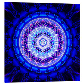 Acrylic glass  Mandala safety  with flower of life - Christine Bässler