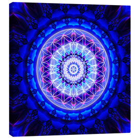 Canvas print  Mandala safety  with flower of life - Christine Bässler