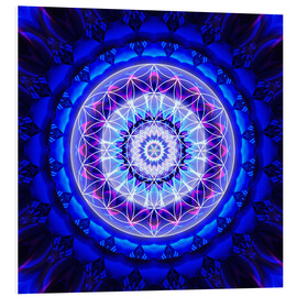 Foam board print  Mandala safety with flower of life - Christine Bässler