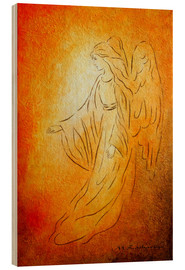 Wood print  Angel of healing - Marita Zacharias