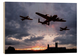 Wood print  Memorial Sunset - airpowerart