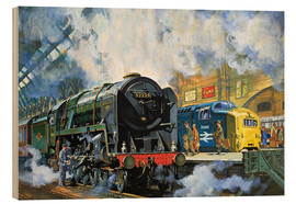 Wood  Evening Star, the last steam locomotive and the new diesel-electric Deltic - Harry Green