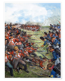 Premium poster The Battle of Waterloo, 1815