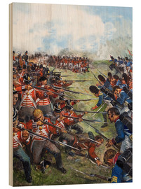 Wood print  The Battle of Waterloo, 1815 - Clive Uptton