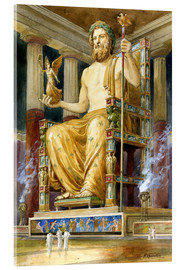 Acrylic print  Statue of Zeus at Oympia - English School