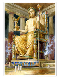 Premium poster  Statue of Zeus at Oympia - English School