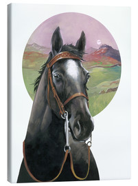 Canvas print  Black Beauty - English School